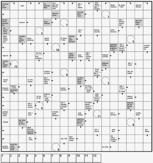 Feld Kreuzworträtsel